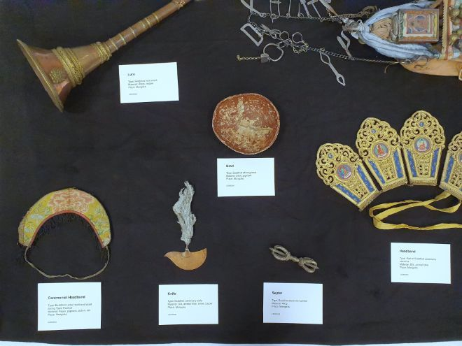 Some of the objects from the collection.