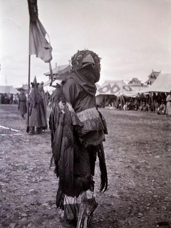 Religious outfit from the Tsam festival, Ulan Bator 1912.