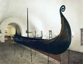 The Oseberg ship in the museum