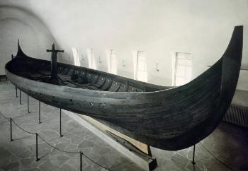 The Gokstad ship in the museum